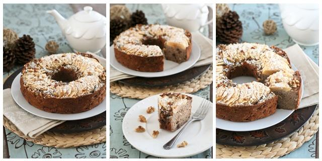 На фото Яблочно-гречневый пирог