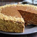 Рецепт Вафельный торт со сгущенкой и грецкими орехами