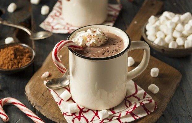 На фото Горячий шоколад с чаем