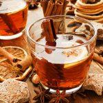 Апельсиновый чай с имбирем и корицей