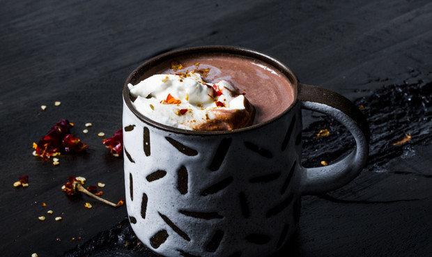 На фото Мексиканский горячий шоколад