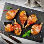 Рецепт Куриные ножки в беконе