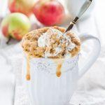 Рецепт Яблочный кекс с корицей в кружке