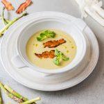 Рецепт Весенний суп из спаржи с беконом