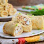 Рецепт Блины на Масленицу с рисом и яйцом