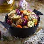Рецепт Постный запеченный картофель в духовке