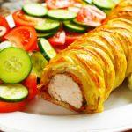 Рецепт Запеченное мясо в слоеном тесте