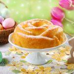 Пасхальный кекс в виде розы