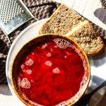 Рецепт Постный борщ с грибами и фасолью