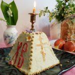Заварная творожная пасха с сухофруктами и орехами
